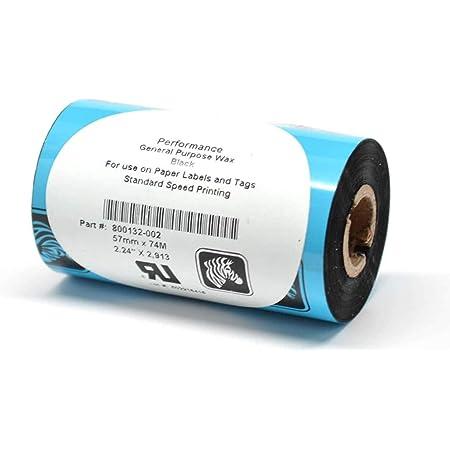 Zebra General Purpose Wax Ribbon 800132-002 **New**