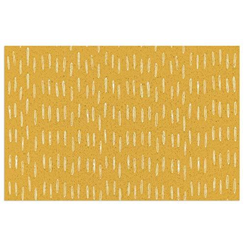 Raindrop - Felpudo de entrada abstracto con patrón bohemio, de PVC, antideslizante, impermeable, para interiores y exteriores, alfombra de entrada, decoración de porche de 39,7 x 59,9 cm