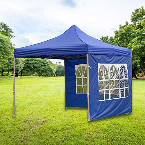 rosemaryrose Waterproof 3x3m Pop Up Gazebo Party Tent BBQ Canopy Outdoor Awning With Side Walls,Instant Canopy Wall Panel Rainproof Shading Shelter- For Tents Outdoor