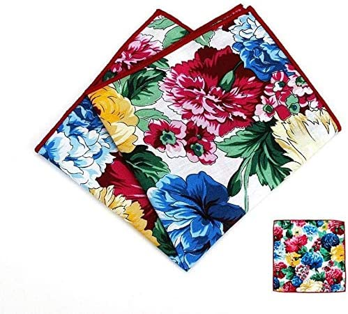 WYKDL Mens Cotton Polka Dots Pocket Square Handkerchief Hanky Dress Pocket Towel Handkerchief Towel Wedding Dress Chest Scarf Handkerchief