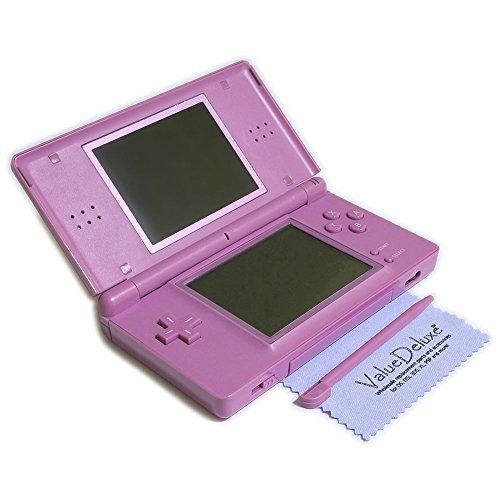 ValueDeluxe Custom Lavender Purple DS Lite System Hand held Gaming Console + Bonus World AC Adapter and Car Adapter