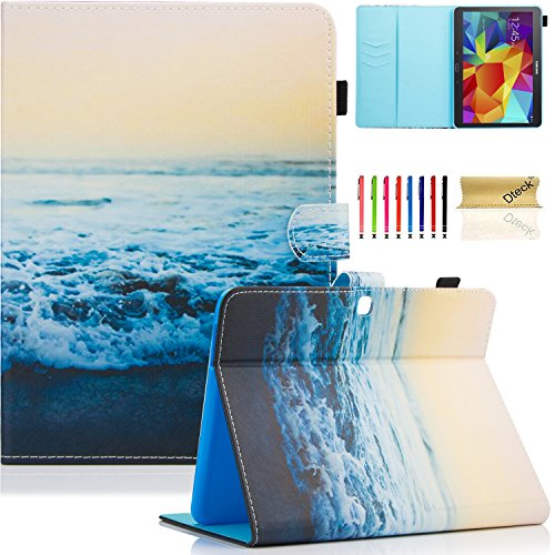 Galaxy Tab 4 10.1 Case,T530 Case,Dteck(TM) PU Leather Flip Stand Protective Case with Auto Wake/Sleep Feature Magnetic Smart Shell Cover for Samsung Galaxy Tab 4 10.1 SM-T530NU T531 T535, Peace Sea