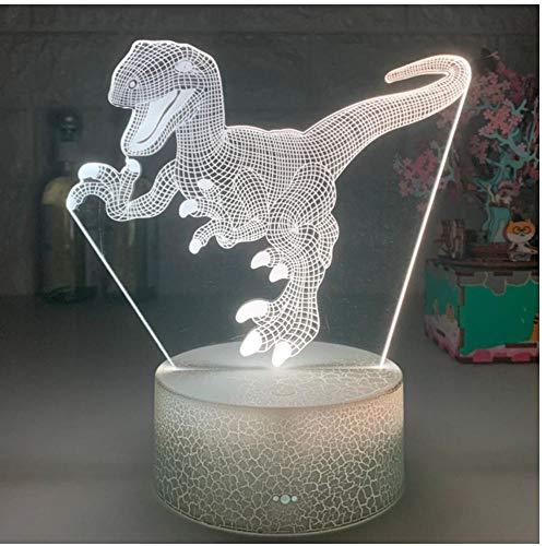 ZZZLamp Lámparas de luz nocturna LED 3D Fire Dragon 7 Control remoto de colores / Lámpara de mesa de control táctil para niños Cumpleaños Regalos de Navidad Decoración de dormitorio