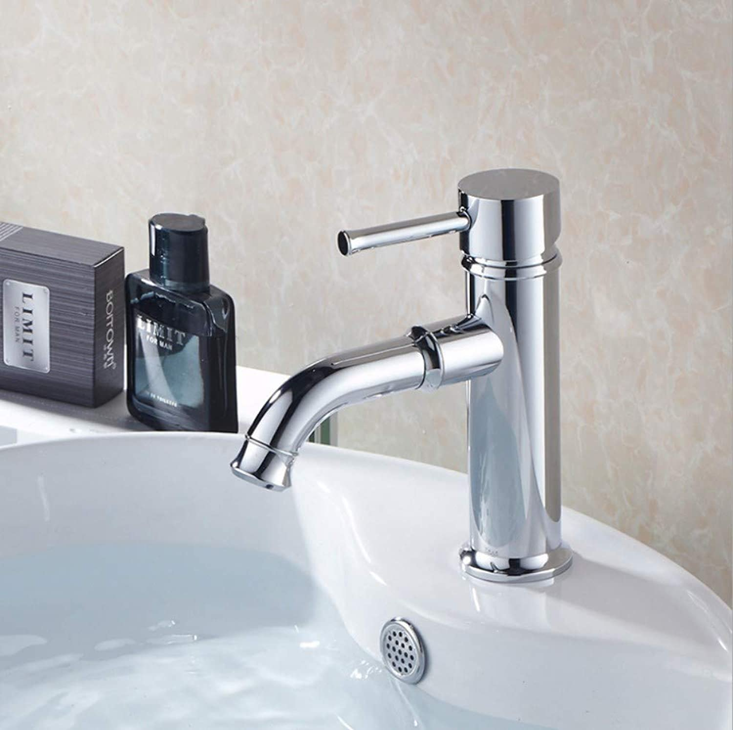 Bathroom Sink Basin Lever Mixer Tap Supply Cold and Hot Water Mixing Faucet Electroplating Basin Faucet