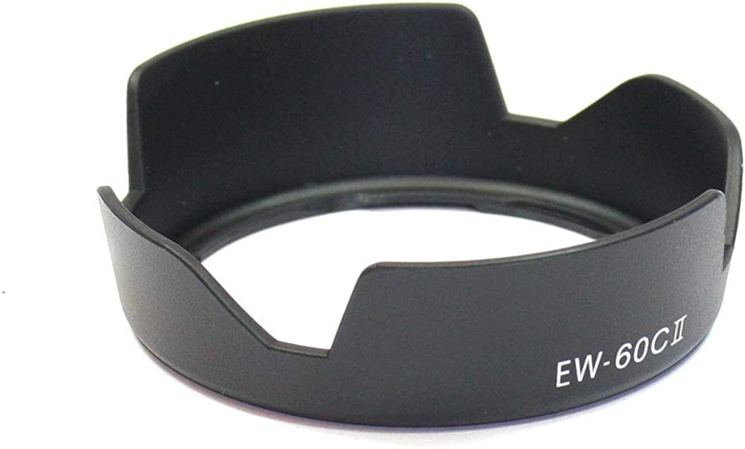 CELLONIC® Parasol EW-60C II Compatible con Objetivo Canon EF 28-90mm f/4-5.6 II EF-S 18-55mm f/3.5-5.6 IS II Capilla Cámara Cubierta del Objetivo Visera Parasoles