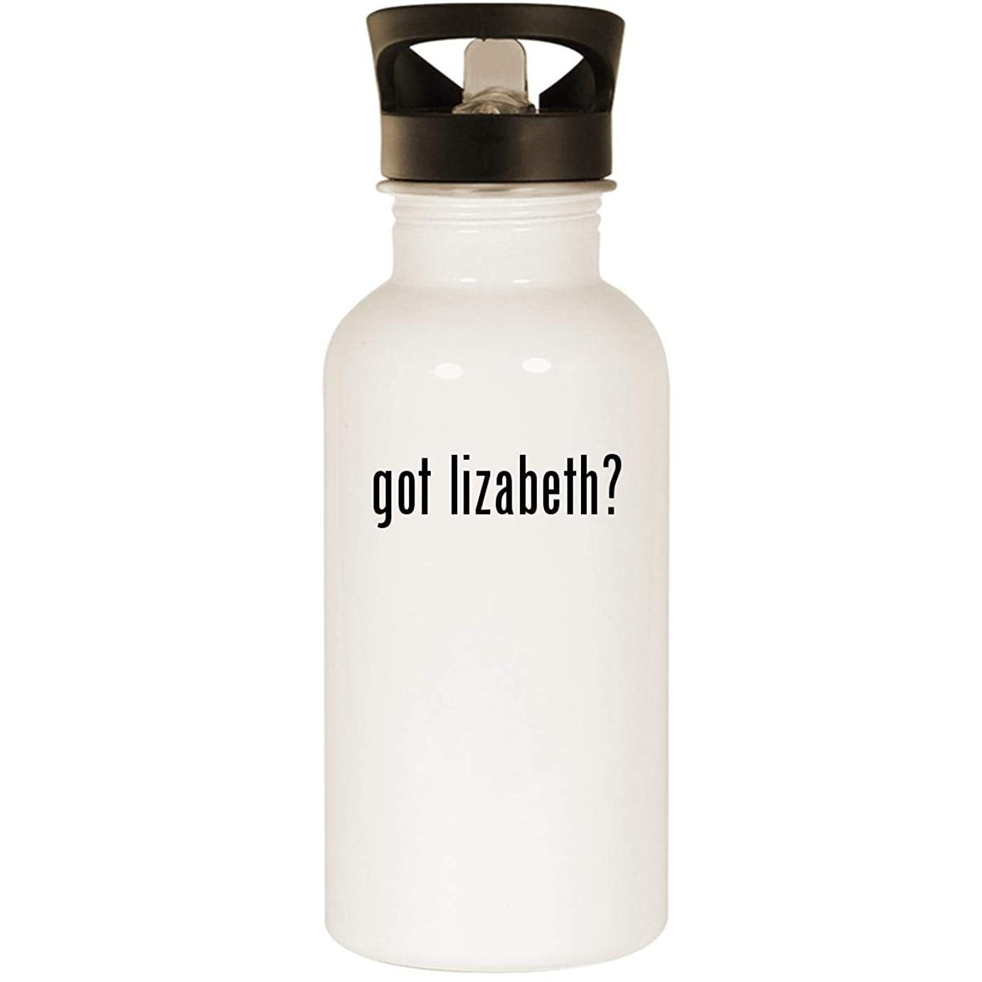 got lizabeth? - Stainless Steel 20oz Road Ready Water Bottle, White