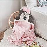 Kpcxdp Plüschdecke niedliche Badedecke Cartoon Donald Duck Daisy Kinder Kapuze Decke Mädchen Junge Bademantel Umhang 0 bis 4 Jahre altes Baby