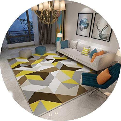 YQDSY Wohnzimmer Bodenmatte Dekoration, geometrisches Muster Teppich rustikalen Stil Teppiche Schlafzimmer warme Teppich, Studie Dekoration Bodenmatte kurzen Haufen Tatami Soft Dura
