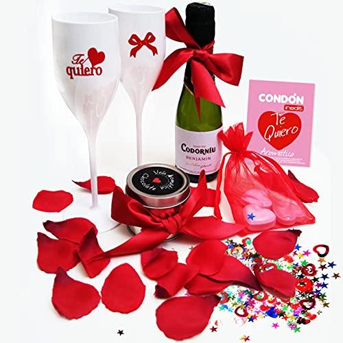 Inedit Festa Parejas Enamoradas Caja Fantasia Lovers Pack Enamorados Cava Regalo Tu y Yo Copas Cava Parejas