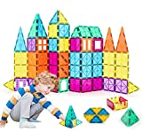 Neoformers Magnetic Building Tiles, 70 Pcs 3D Magnetic Building Blocks Set for Kids, STEM...