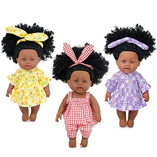Nice2you 3-Sets Doll Playtime Outfits Kleidung für 11 12-Zoll-Babypuppen Neugeborene Babypuppen Mode-Outfits enthalten Haarbänder (Puppen sind Nicht enthalten)