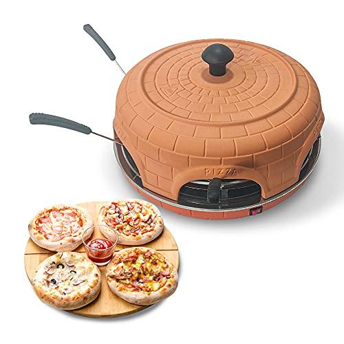 BluMill Pizzarette, Pizzaofen für 6 Personen, mit Spatel, Teigform und Rezepten