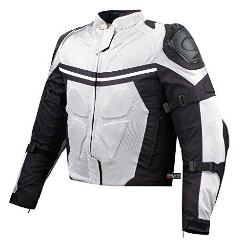NEW PRO MESH MOTORCYCLE JACKET RAIN WATERPROOF WHITE