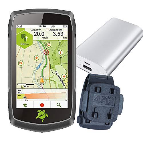 Tahuna TEASI ONE4 + Rucksack- und Gürtel-Clip + USB Netzteil + Schutzfolie + optionales Zubehör (Tahuna Teasi ONE4 + Gürtel- und Rucksack-Clip, Powerbank)