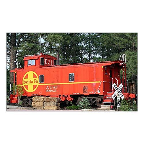 "CNW Studio Santa Fe Railway Train Caboose, Williams, Arizona, Decal Vinyl Bumper Sticker 5"""