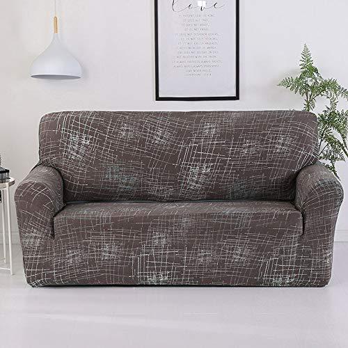 ASCV Funda de sofá elástica de algodón Funda de sofá Todo Incluido para Sala de Estar Funda elástica en Forma de L Sofá de Esquina A9 2 plazas