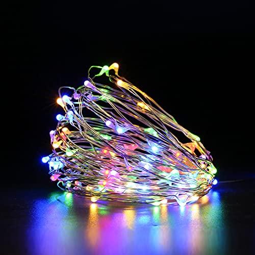 Criacr Guirnaldas Luces Exterior Solar, 10m 100LED Cadena de Luces, Decoración Luces de Jardín con 8 Modos, Luces Impermeables para Arbol, Jardín, Interior, Patio, Hogar, Boda, Fiesta -Colorido