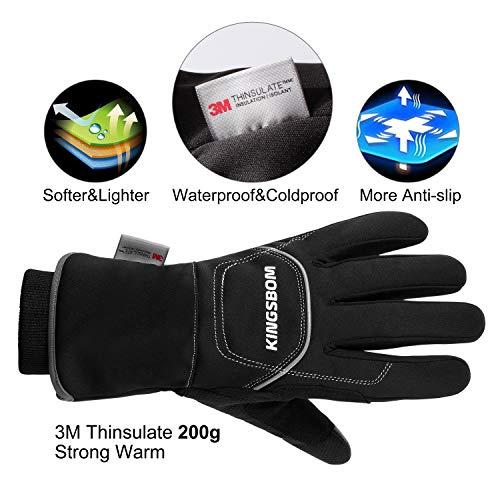 KINGSBOM -40F° Waterproof & Windproof Thermal Gloves