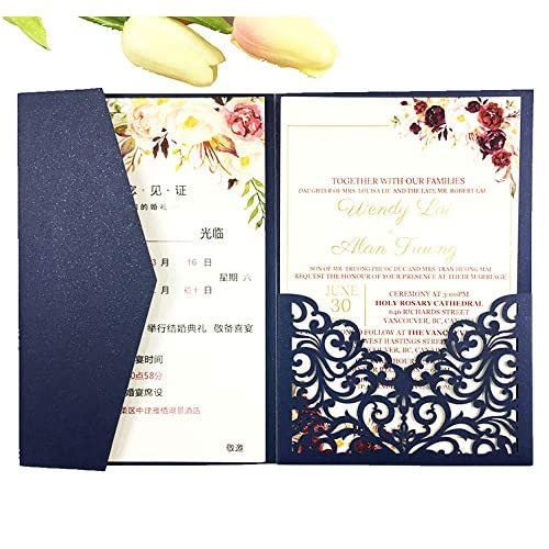 Pocket Wedding Invitations Amazon Com