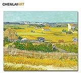 sakkdaull piantes Set Van Gogh Famous Harvest s AndChildren's Adult Principiante Pintura al óleo Kit 40x50cmDIY Pintar por números