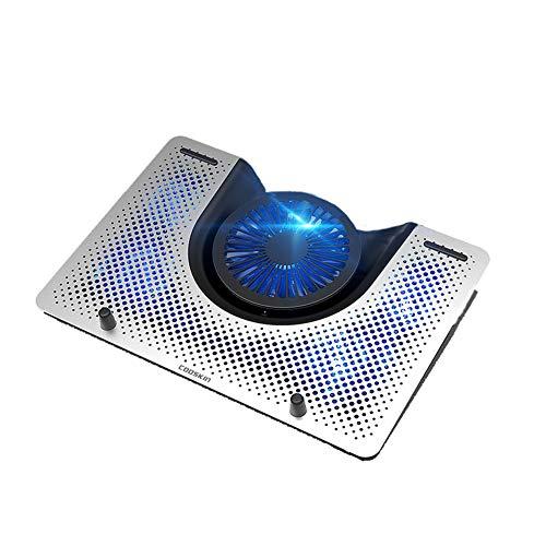 N / B Radiador portátil Ultrafino portátil con 5 Ventiladores alimentados por USB, Ajuste de Varios rangos, Alto Rendimiento, bajo Ruido y Ahorro de energía