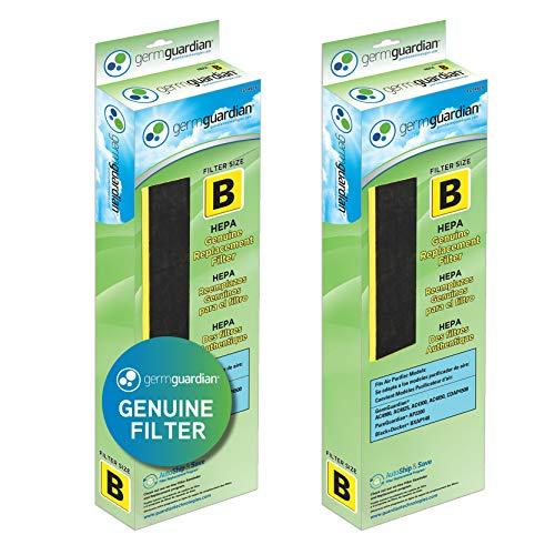 Germ Guardian FLT48252PK HEPA GENUINE Air Purifier Replacement Filter B Multi-Pack for GermGuardian AC4300BPTCA, AC4900CA, AC4825, AC4825DLX, AC4850PT, CDAP4500BCA, CDAP4500WCA and More, 2-Pack