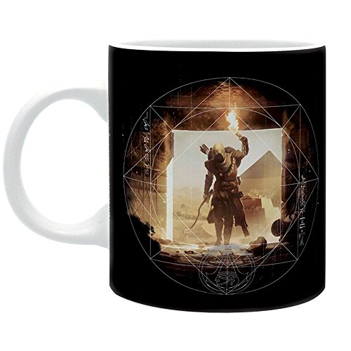 Assassins Creed Origins - Keramik Tasse - Pyramids - Logo - Geschenkbox