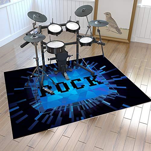 ZXHH Professioneller Schlagzeugteppich Trommel Teppiche Quadratische Schallschutzdecke Drum-Teppich Drum Rug Für Bass Drum Snare Und Andere Core Set-Komponenten Matte Drum-Teppich