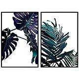 decomonkey | Poster 2er – Set schwarz-weiß Abstrakt