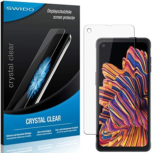 SWIDO Schutzfolie für Samsung Galaxy Xcover Pro [2 Stück] Kristall-Klar, Hoher Festigkeitgrad, Schutz vor Öl, Staub & Kratzer/Glasfolie, Bildschirmschutz, Bildschirmschutzfolie, Panzerglas-Folie