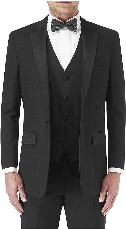 Skopes Wool Blend Latimer Dinner Suit Jacket in Black