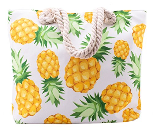 Pineapple Summer Beach Tote Bags - Large Pineapple