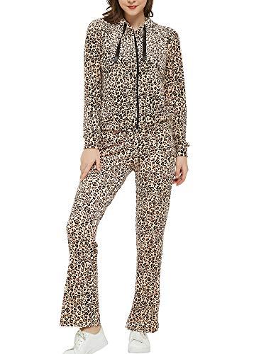 Woolicity Conjunto Chándal para Mujer Terciopelo Conjuntos Deportivos Chaquetas Sudadera con Cremallera y Pantalones Trajes de 2 Piezas