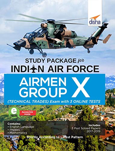 Study Package for Indian Air Force Airmen Group X (Technical Trades) Exam with 3 Online Sets