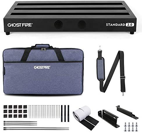 Ghost Fire Guitar Pedal Board Aluminum Alloy 3 3lb Effect Pedalboard 22 x12 5 with Carry Bag product image