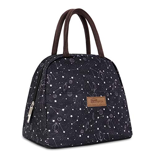HOMESPON Lunch Bag Insulated Tote Bag Lunch Box Resuable Cooler Bag Lunch container Waterproof Lunch holder for Women/Men (large starry star)