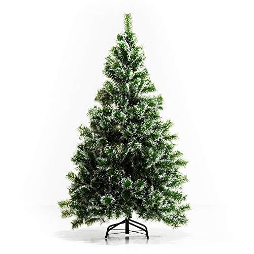 HOMCOM Künstlicher Weihnachtsbaum 1,5 m Christbaum Tannenbaum 416 Äste Metallfuß PET Grün