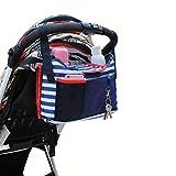 Aliyao Baby Kinderwagen Organizer Buggy Storage Bag Universal Tasche großer Stauraum mit Mobile Telefon Halter Tasche Baby Windeln wechseln Pad und Tasse Halter Great wasserdichter