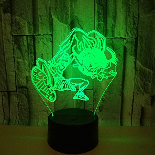 3D illusie lampen LED basketbal donker nachtlicht USB 7 kleuren sensor bureaulamp voor slaapkamer kantoor kinderkamer decoratie licht