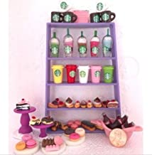 The Pet Shop Littlest Pet Shop RANDOM 6 PC Custom Lot STARBUCKS Sweets TREATS LPS Accessories