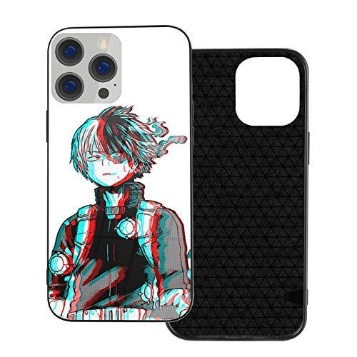 3D Shoto Todoroki Mha Anime Glass Phone Case Cover for iPhone 12 Pro MAX 12 Mini 11 Pro MAX XR X/XS SE 2020/7/8 6/6s Plus Samsung Series