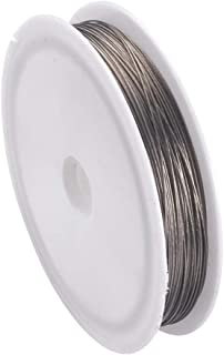Fashewelry 50M/Roll Tiger Tail Jewelry Making Beading Wire with Spool Perfect for Jewelry DIY Making, Stainless Wire (0.3mm)