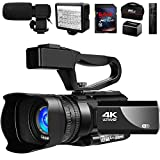 Video Camera 4K Camcorder Vlogging Camera for YouTube IR Night Vision 48MP 30FPS 30X Digital Zoom Camera Recorder with Microphone