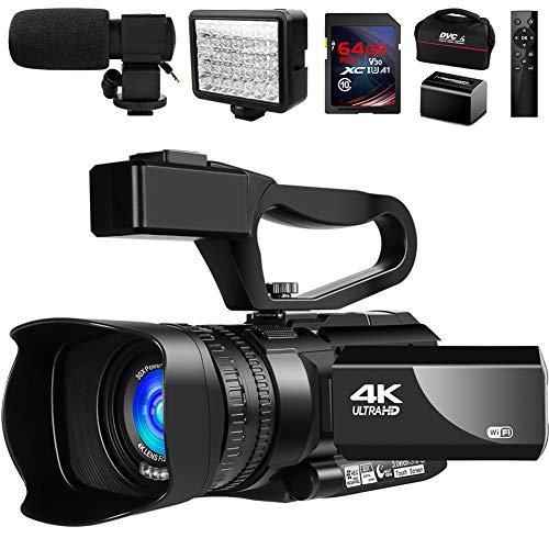 Video Camera 4K Camcorder Vlogging...