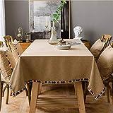 DJUX Mantel Impermeable de Tela de Lino Simple Moderno Mantel Rectangular Mantel Lavable 140x300cm