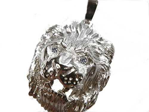 mr.goldis Löwenkopf Anhänger Silber 925 Löwe Herrenschmuck Zirkonia Augen ca. 18g *NUES MODELL*