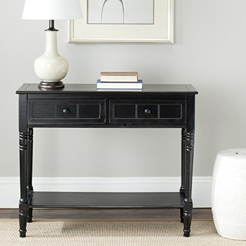 Safavieh American Homes Collection Samantha Distressed/Black 2-Drawer Console Table