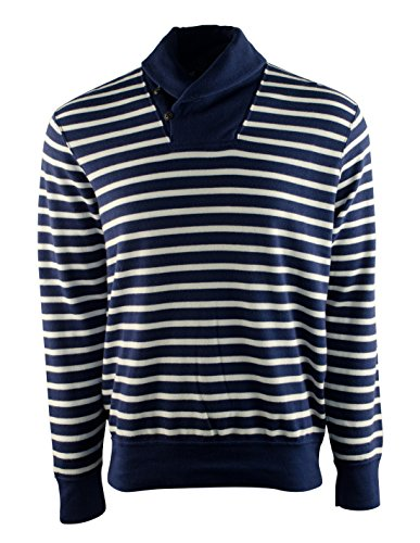Polo Ralph Lauren Men's Striped Pullover Top [2XL] [White Navy Blue]