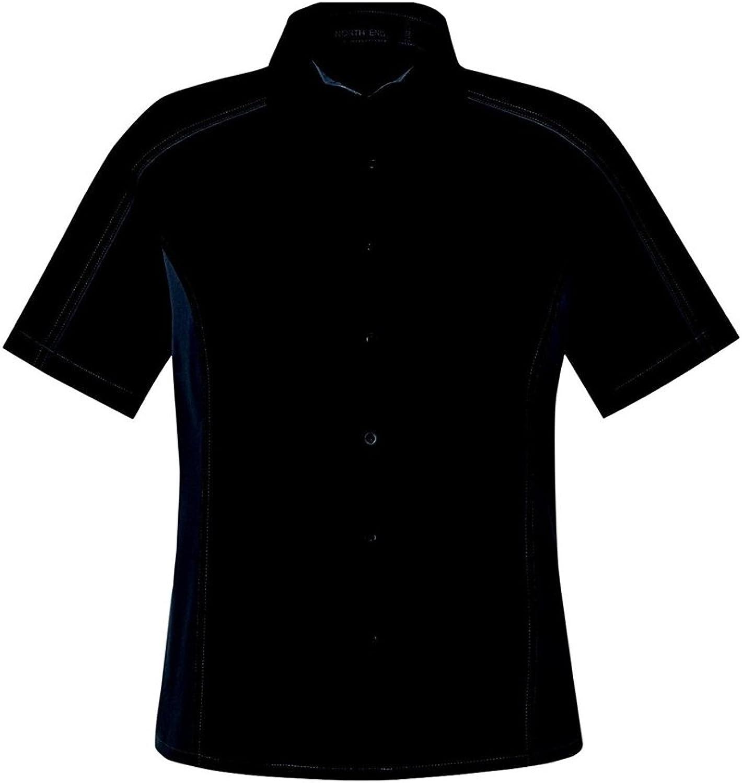 Ash City Ladies Fuse color Block Twill Shirt