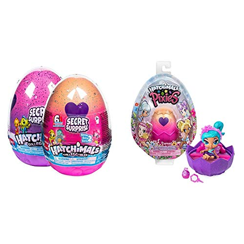 Hatchimals CollEGGtibles, Secret Surprise Playset with 3 Hatchimals (Styles May Vary) & Pixies, 2.5-Inch Collectible Doll and Accessories (Styles May Vary), for Kids Aged 5 and up